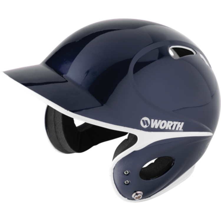 WORTH LPBHT Toxic Low Profile Baseball Batting Helmet- Black